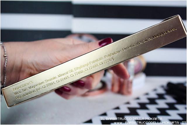 golden Bar makeup revolution palette choccolate inci