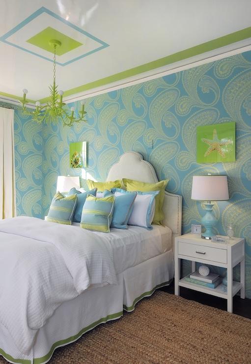 Dormitorios en color turquesa y verde dormitorios for Habitacion azul turquesa