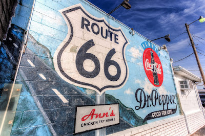 Route 66 ann chicken fry house fast food sign_by_Laurence Norah-2