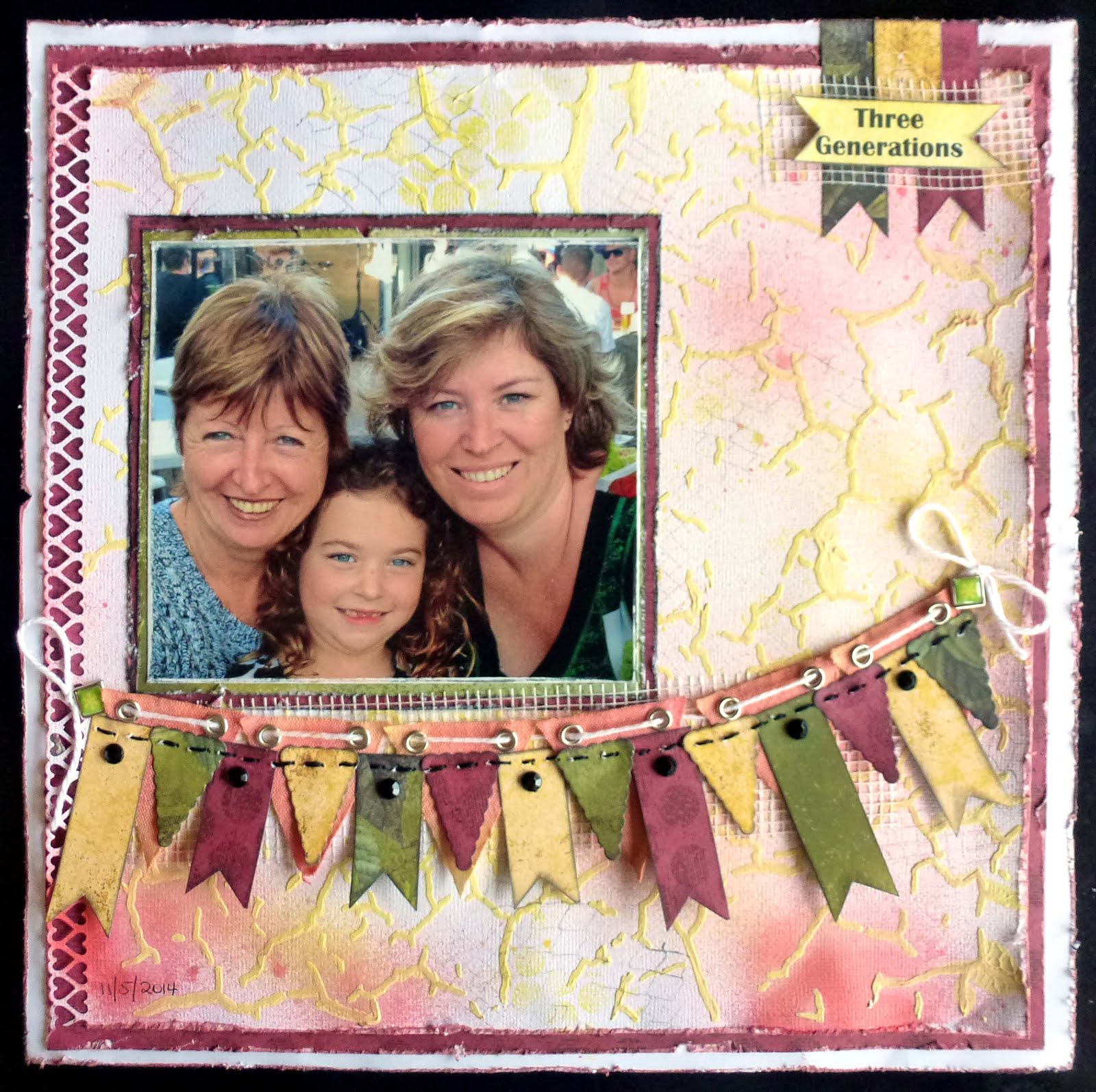 Published Layout Scrapbooking Memories