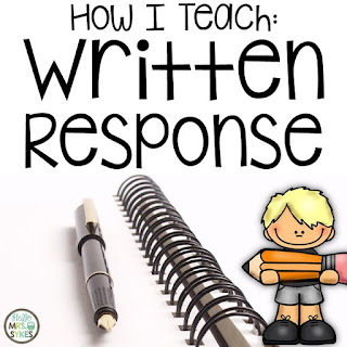 Do your students need help with written response? This blog post walks you through the steps this literacy specialist uses to teach written response in grades 2-4 | Hello Mrs Sykes