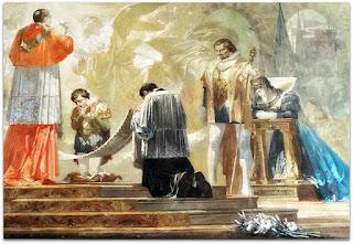 A Glória de São Luiz Gonzaga, Aldo Locatelli, Catedral de Novo Hamburgo (Esquerda do Mural)