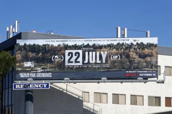 22 July film billboard