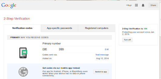 2 Step Verivication dengan Google Authenticator