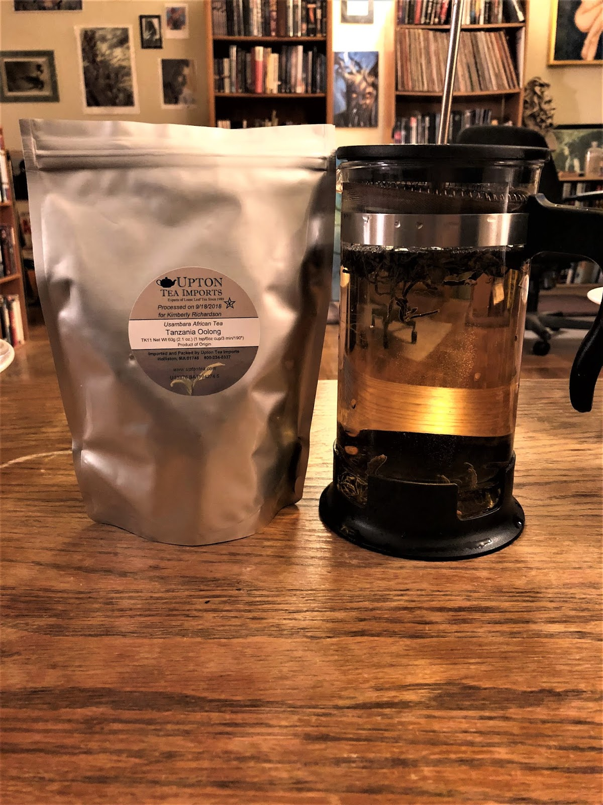 The Nocturnal Aesthetic: TEA REVIEW - Tanzania Oolong (Upton Tea