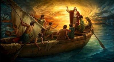 Resultado de imagem para jesus atravessando o mar da galileia