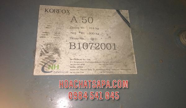Koreox A50 - dầu bôi trơn se chỉ, sợi cho ngành dệt