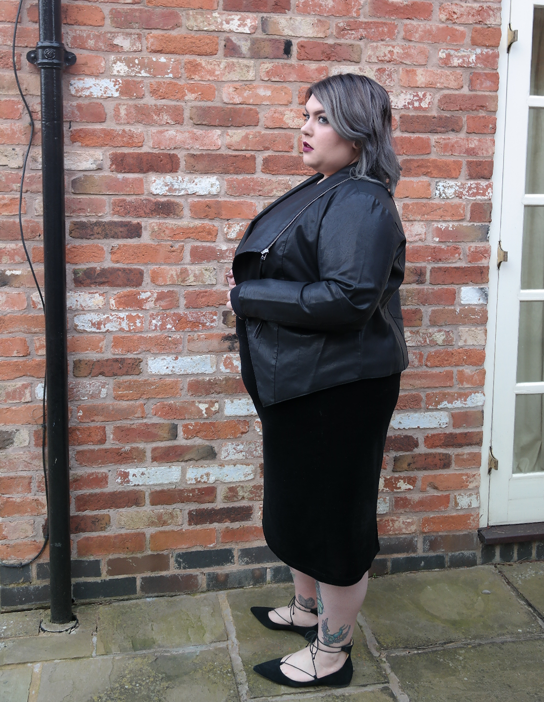 UK Plus Size Fashion Blogger Black Navabi Outfit