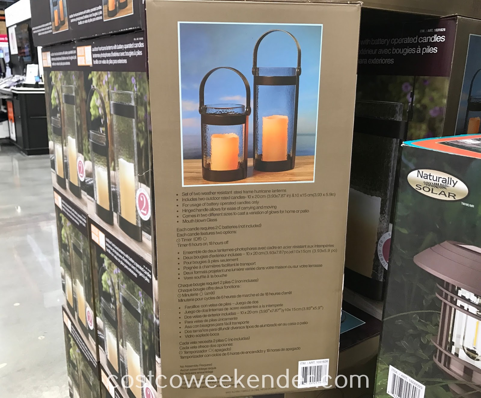Inside Outside Garden Hurricane Lanterns: even great for the backyard or patio