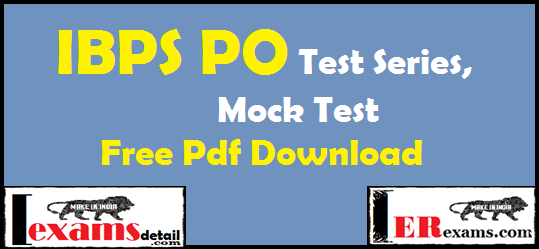 IBPS PO Online Test Series Free Pdf Download. IBPS PO online test series free pdf download. Today I am share IBPS PO all test series mock test and online test series papers free pdf download.