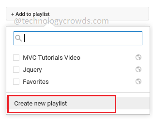 Create New Playlist