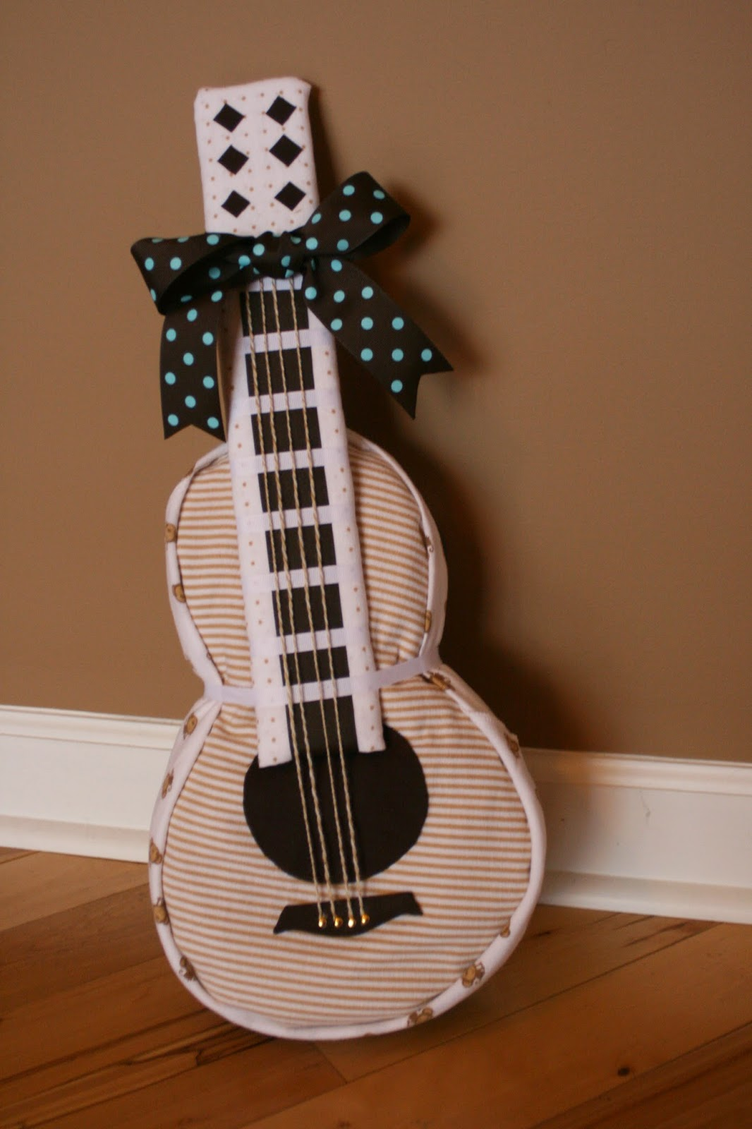 Polka Dot Pix Gal Guitar Diaper Cake For Baby Jack