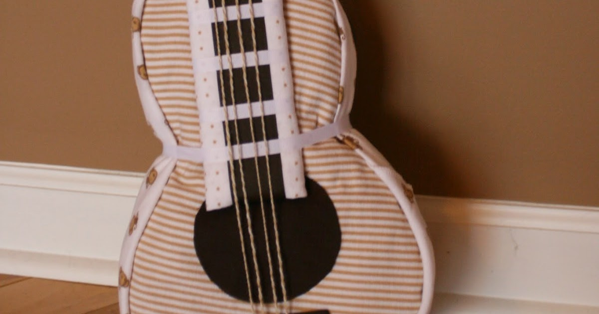 Polka Dot Pix Gal Guitar Diaper Cake For Baby Jack