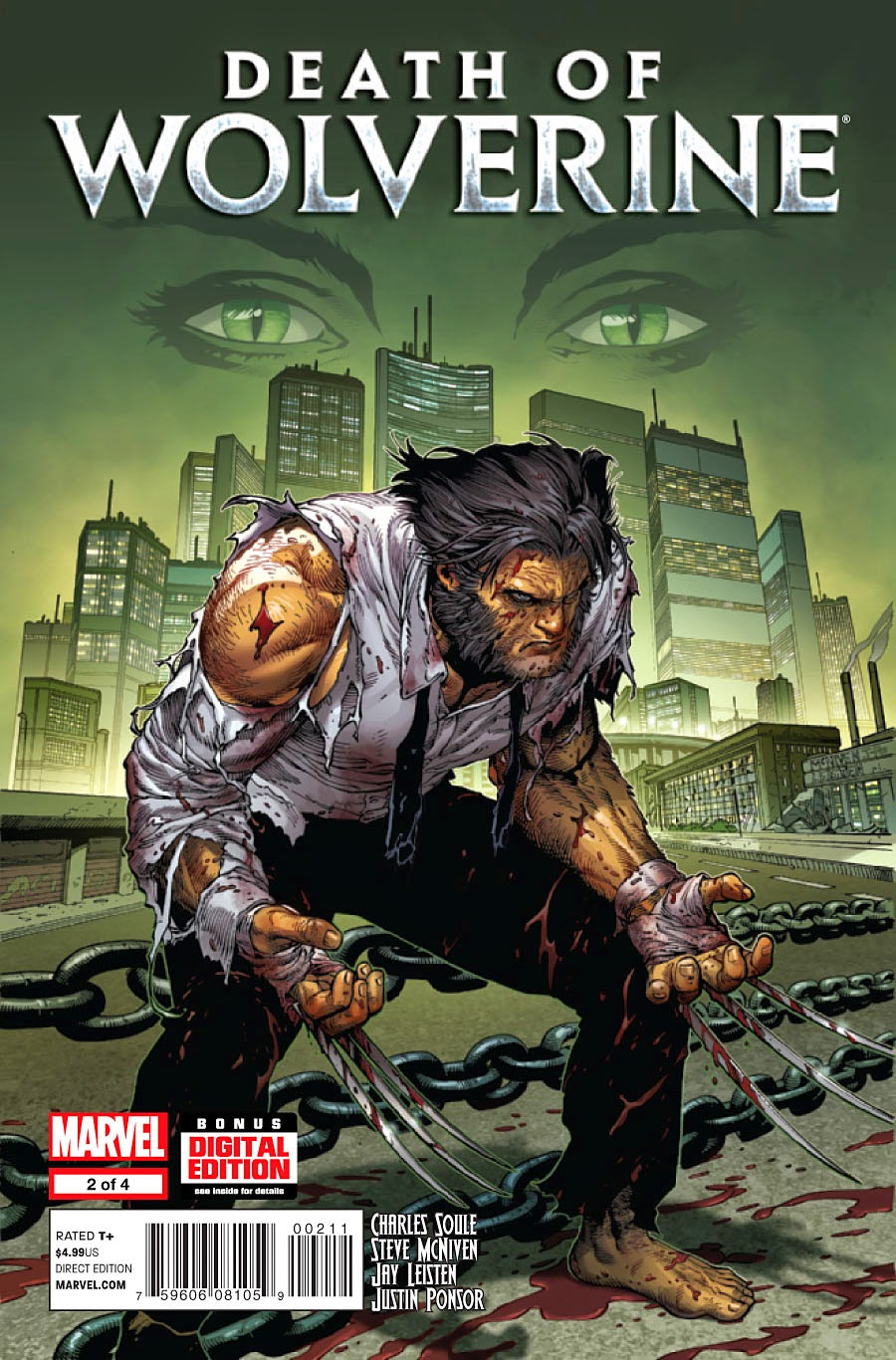 Death of Wolverine #2 Cover Steven McNiven Charles Soule