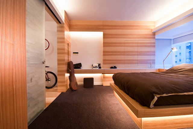 Picture of the bedroom as part of the Hong Kong apartment design