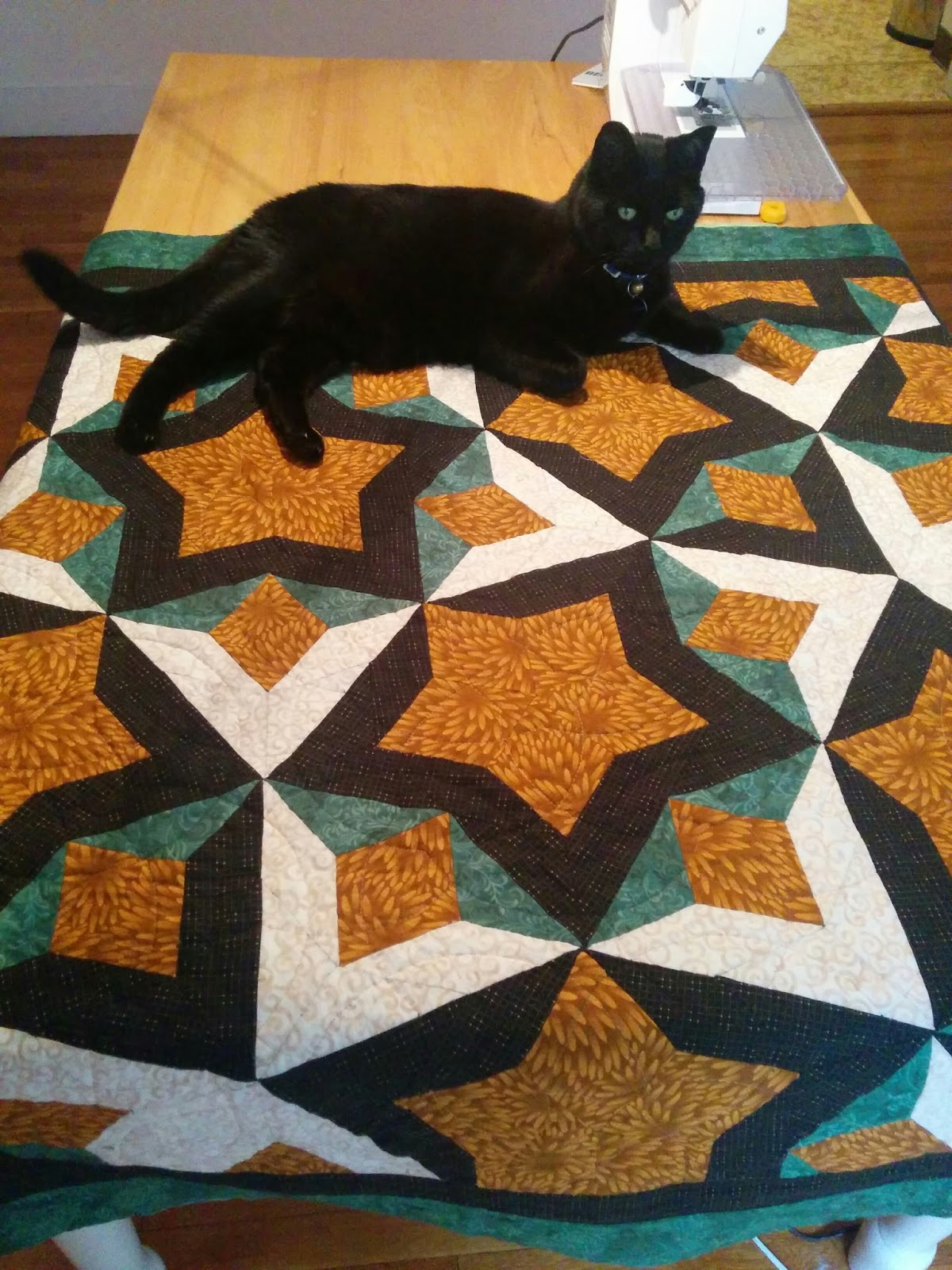 Dunawi Creek Penrose Tile Quilt With Pieced Patches