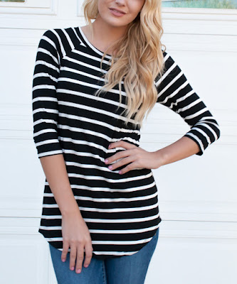 Tickled Three Quarter Sleeve Tunic $25 (reg $52)