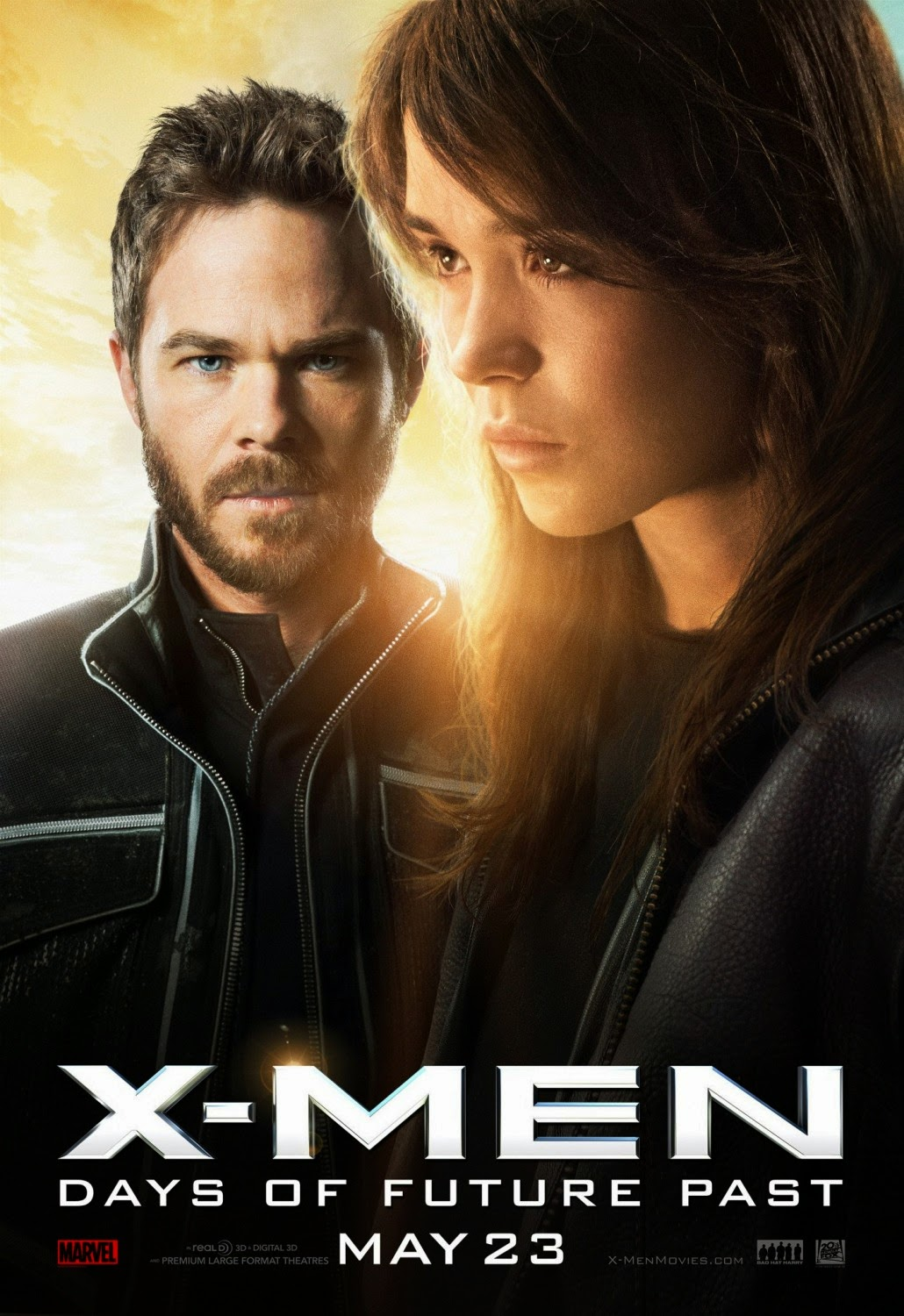 X-Men Days of Future Past Character Movie Poster Set - Shawn Ashmore as Iceman & Ellen Page as Kitty Pryde