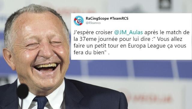 Aulas trolle un supporter de Strasbourg qui souhaite voir l'OL rater la LDC