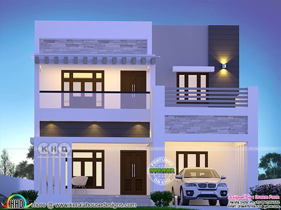 2210 sq-ft 4 BHK modern residence