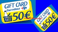Logo ''Vinci con Parmalat'' 85 Gfift Card Carrefour da 50€