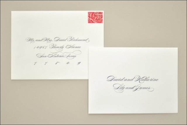 Address Wedding Invitations To A Family Members Without Inner Envelope