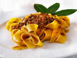 Bologna's signature dish, tagliatelle al ragù