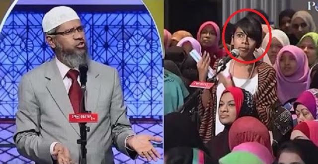 """Bertanya dengan Pertanyaan """"Menjebak"""" Dr Zakir Naik, Mahasiswi ini Langsung Diam Tanpa Kata Setelah Tahu Jawabannya"""