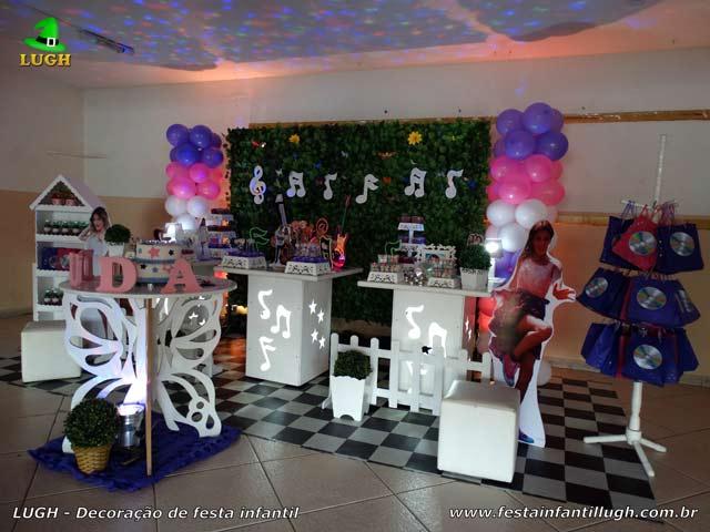 Decoração aniversário provençal simples - Festa feminina tema Violetta