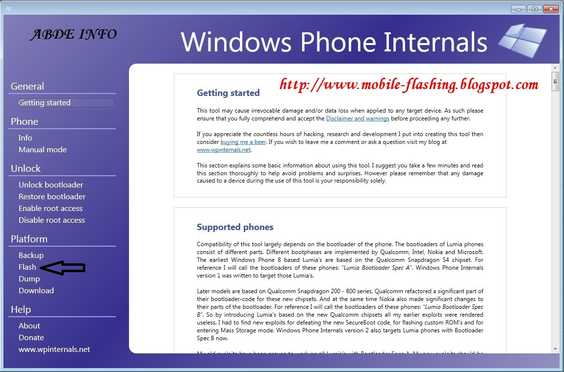 ABDE INFO: How to Flash Nokia Lumia Phones (Windows Phones)