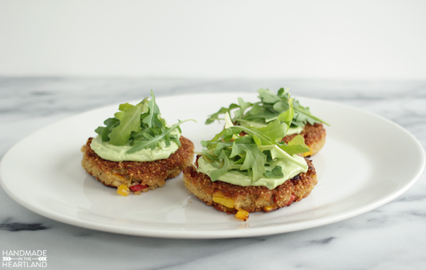 quinoa patties are a healthy dinner option