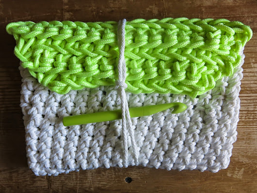 Crocheted Rope Clutch