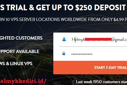 Cara membuat akun RDP gratis di vpsserver.com