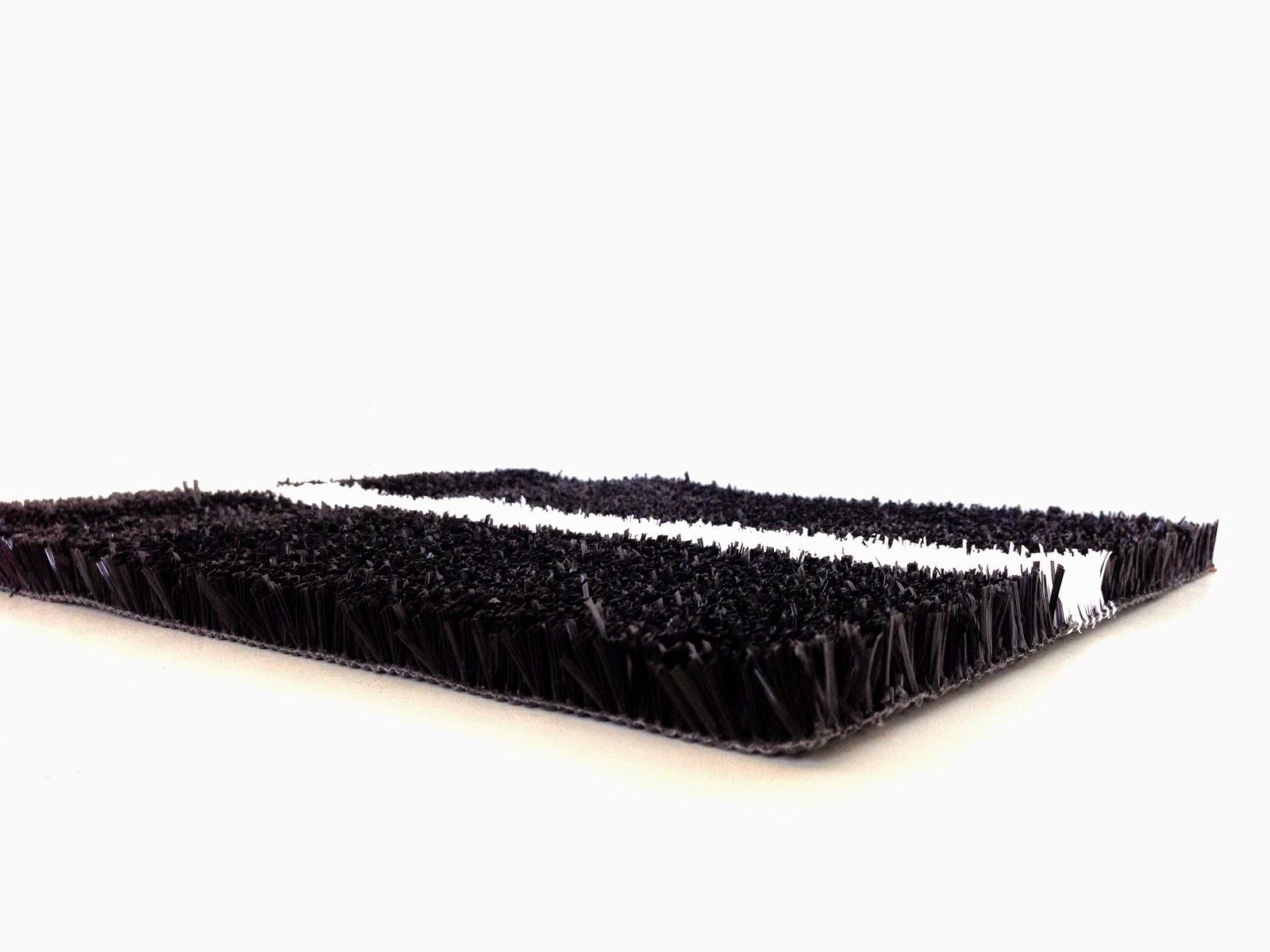 césped artificial de padel color negro