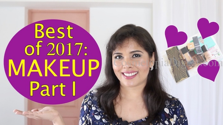 Here are my favourite makeup products of 2017 - these are foundations and eyeshadows.