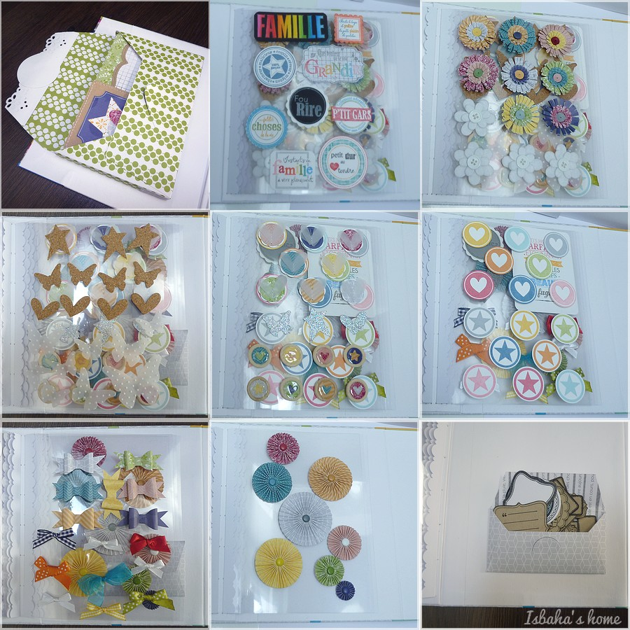 homemade embellishments with Kesiart papers