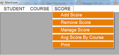 C# Students Information System Source Code - main form - scores