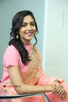 Actress Ritu Varma Pos in Beautiful Pink Anarkali Dress at at Keshava Movie Interview .COM 0262.JPG
