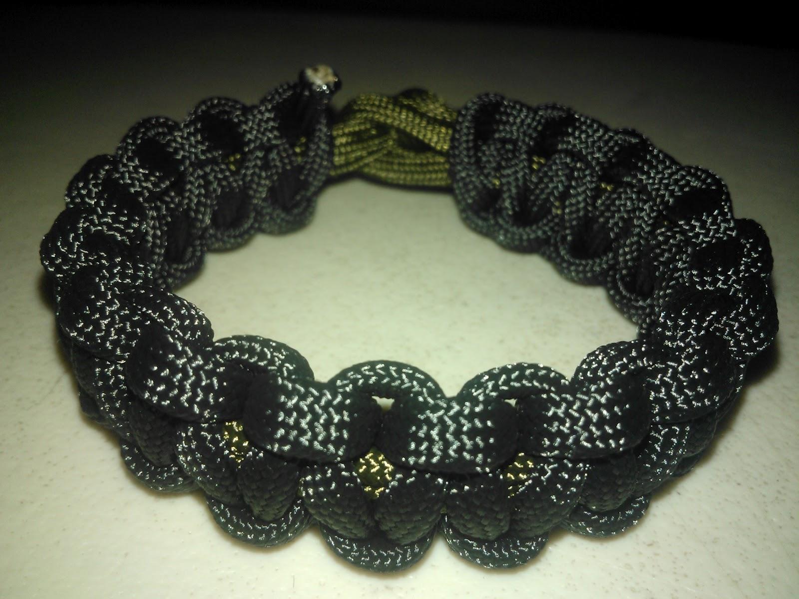 Para Bracelets Black Paracord Bracelet And Od Green Knot