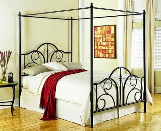 Riva Metal Canopy Bed