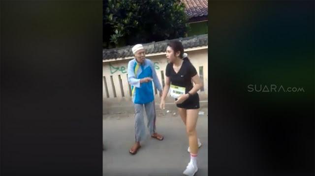 Gara-gara Dianggap Tak Sopan Pakai Celana Pendek Saat Ikut Lomba Lari, Lihat Kelakuan Tak Pantas Kakek-kakek Pada Wanita Ini...
