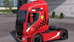 Scuderia Ferrari Skin for Iveco Hi Way