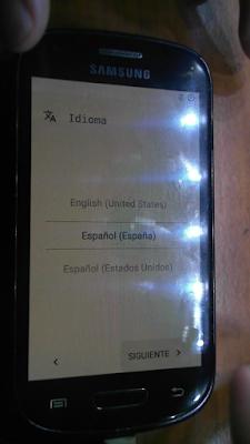 Asistente configuración inicial android 7 s3 mini