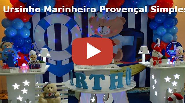 Vídeo decoração provençal Ursinho Marinheiro