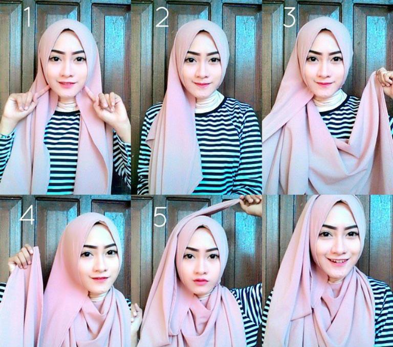 25+ Tutorial Hijab Pashmina Wisuda Terbaru 2017