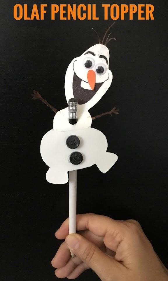 Craft for kids, Kids Craft, Pencil Topper, Snowman craft, easy craft, fun craft, school craft