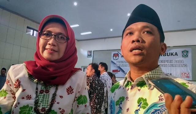 Bupati dan Wakil Bupati Lumajang terpilih periode 2018-2023, Thoriq – Indah