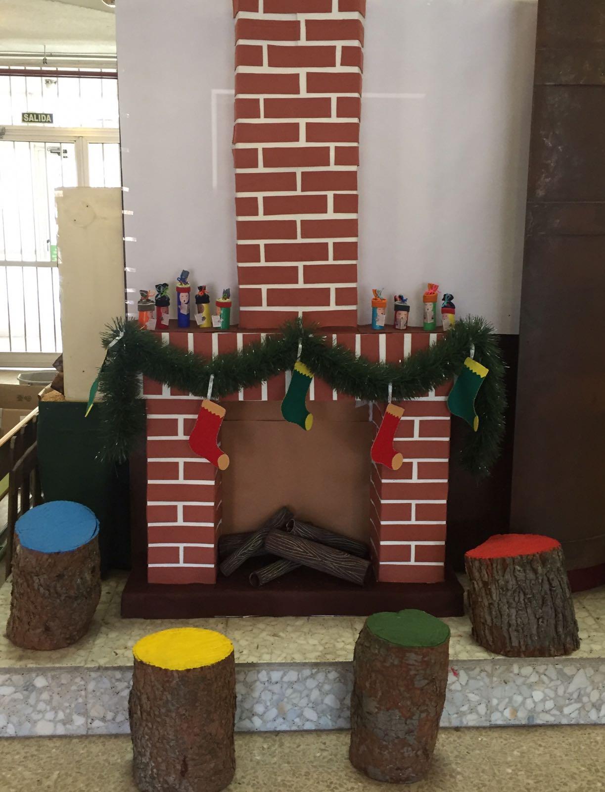 how to make a christmas fireplace