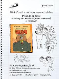 Flávia Savary convida para lançamento no 18º Salão FNLIJ de Livros para Crianças e Jovens