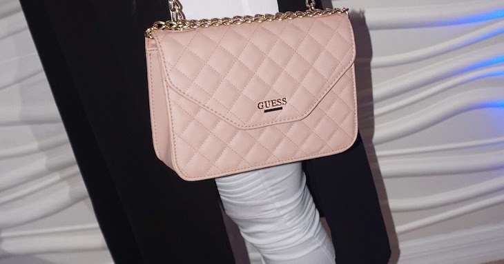 0e3c06c09591 Blush Quilted Chain Bag by GUESS